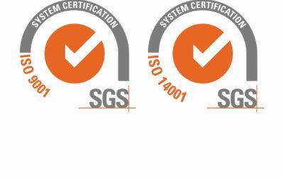 Renovación certificaciones UNE-EN ISO 9001 y 14001
