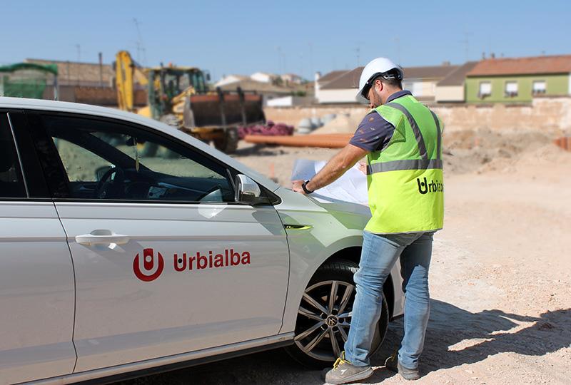 Obras de mejora en la calle Voluntariado de La Roda